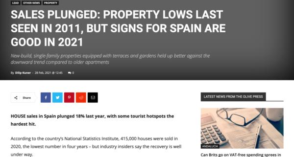 Публикация на портале theolivepress.es